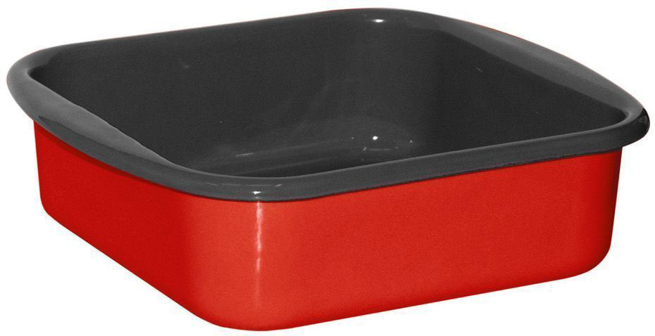 Жаровня Riess Fresh Tomato, с эмалевым покрытием, 22 х 22 х 8 см riess сковорода avorio 28 см