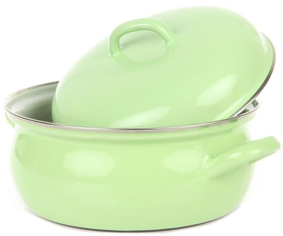 Кастрюля Riess Grun, с эмалевым покрытием, 2 л0537-027Торговая марка «Riess» представляет собой эксклюзивную коллекцию стальной посуды, покрытую двумя слоями стекловидной эмали. Производится в Австрии с 1550 года с применением новейших технологий. Высочайшее качество и уникальный дизайн широко известны и высоко оценены покупателями эмалированной посуды во всем мире. Разнообразные расцветки с уникальным декором являются вдохновением к приготовлению пищи и воплощают в жизнь все последние тенденции в декорации кухни и столовой. Благодаря высокой устойчивости к ультрафиолетовому излучению, вы очень долго будете наслаждаться нежными расцветками и блеском эмалированной посуды «Riess». В жаровнях и сковородках можно варить, жарить, тушить. Подходит для всех видов плит, включая индукционную. Также можно использовать в духовке. Легко очищаются: достаточно ненадолго замочить в воде и протереть губкой для мытья посуды с моющим средством.Можно использовать моющие средства и мыть в посудомоечной машине. При уходе за изделием запрещается использовать абразивные материалы. Срок годности не ограничен.