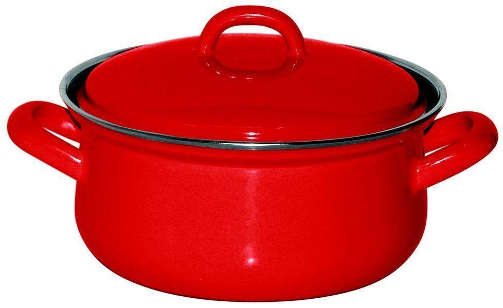 Кастрюля Riess Fresh Tomato, с эмалевым покрытием, 1 л0611-064Торговая марка «Riess» представляет собой эксклюзивную коллекцию стальной посуды, покрытую двумя слоями стекловидной эмали. Производится в Австрии с 1550 года с применением новейших технологий. Высочайшее качество и уникальный дизайн широко известны и высоко оценены покупателями эмалированной посуды во всем мире. Разнообразные расцветки с уникальным декором являются вдохновением к приготовлению пищи и воплощают в жизнь все последние тенденции в декорации кухни и столовой. Благодаря высокой устойчивости к ультрафиолетовому излучению, вы очень долго будете наслаждаться нежными расцветками и блеском эмалированной посуды «Riess». В жаровнях и сковородках можно варить, жарить, тушить. Подходит для всех видов плит, включая индукционную. Также можно использовать в духовке. Легко очищаются: достаточно ненадолго замочить в воде и протереть губкой для мытья посуды с моющим средством.Можно использовать моющие средства и мыть в посудомоечной машине. При уходе за изделием запрещается использовать абразивные материалы. Срок годности не ограничен.