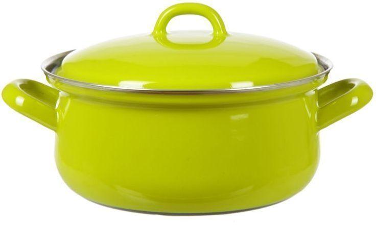 Кастрюля Riess Lemon Green, с эмалевым покрытием, 1,5 л0612-061Торговая марка «Riess» представляет собой эксклюзивную коллекцию стальной посуды, покрытую двумя слоями стекловидной эмали. Производится в Австрии с 1550 года с применением новейших технологий. Высочайшее качество и уникальный дизайн широко известны и высоко оценены покупателями эмалированной посуды во всем мире. Разнообразные расцветки с уникальным декором являются вдохновением к приготовлению пищи и воплощают в жизнь все последние тенденции в декорации кухни и столовой. Благодаря высокой устойчивости к ультрафиолетовому излучению, вы очень долго будете наслаждаться нежными расцветками и блеском эмалированной посуды «Riess». В жаровнях и сковородках можно варить, жарить, тушить. Подходит для всех видов плит, включая индукционную. Также можно использовать в духовке. Легко очищаются: достаточно ненадолго замочить в воде и протереть губкой для мытья посуды с моющим средством.Можно использовать моющие средства и мыть в посудомоечной машине. При уходе за изделием запрещается использовать абразивные материалы. Срок годности не ограничен.