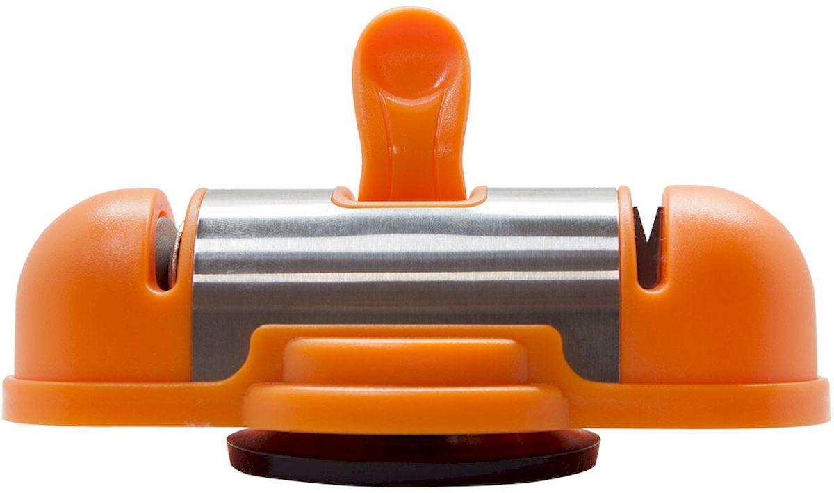 Ножеточка Borner, двухзонная, цвет: оранжевый862173Двухзонная ножеточка с вакуумным креплением к столу позволит вам профессионально поточитьлюбой металлический нож от кухонного до туристического. Преимущества ножеточки: - ножеточка легко устанавливается на любой гладкой поверхности; - приспособление для заточки ножей позволяет затачивать лезвие ножа обеими руками; - благодаря 2-м зонам заточки Победит и Алмаз, ножеточка подходит как для заточки сильноповрежденных и тупых ножей, так и для поддержания остроты ножей, которым требуется доводкаили легкая заточка; - угол заточки 26 градусов. Профессионально, идеально, быстро - одно движение и лезвие идеально заточено.
