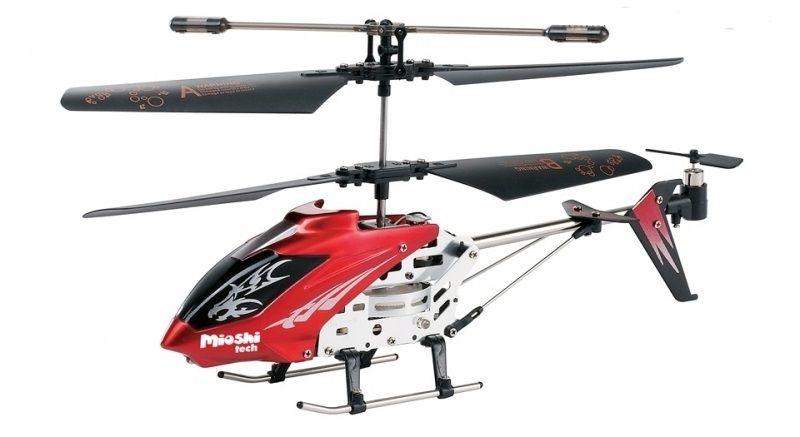 Mioshi Вертолет на радиоуправлении Tech Mercury цвет красный винт для mercury 15