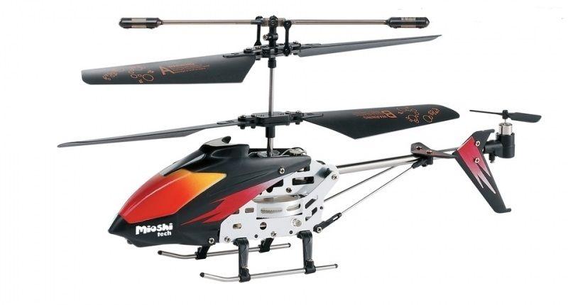 Mioshi Вертолет на радиоуправлении Tech Mercury цвет черный винт для mercury 15