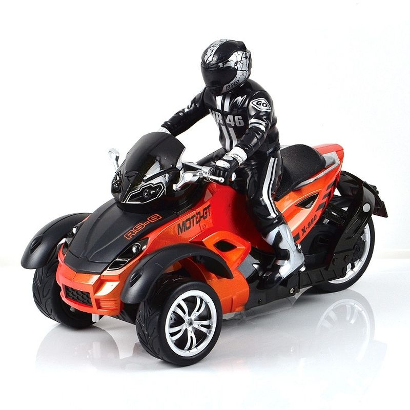 Mioshi Машинка на радиоуправлении Tech Трицикл Экстрим цвет оранжевый квадрокоптер mioshi tech 3d макси дрон 27 mte1209 025