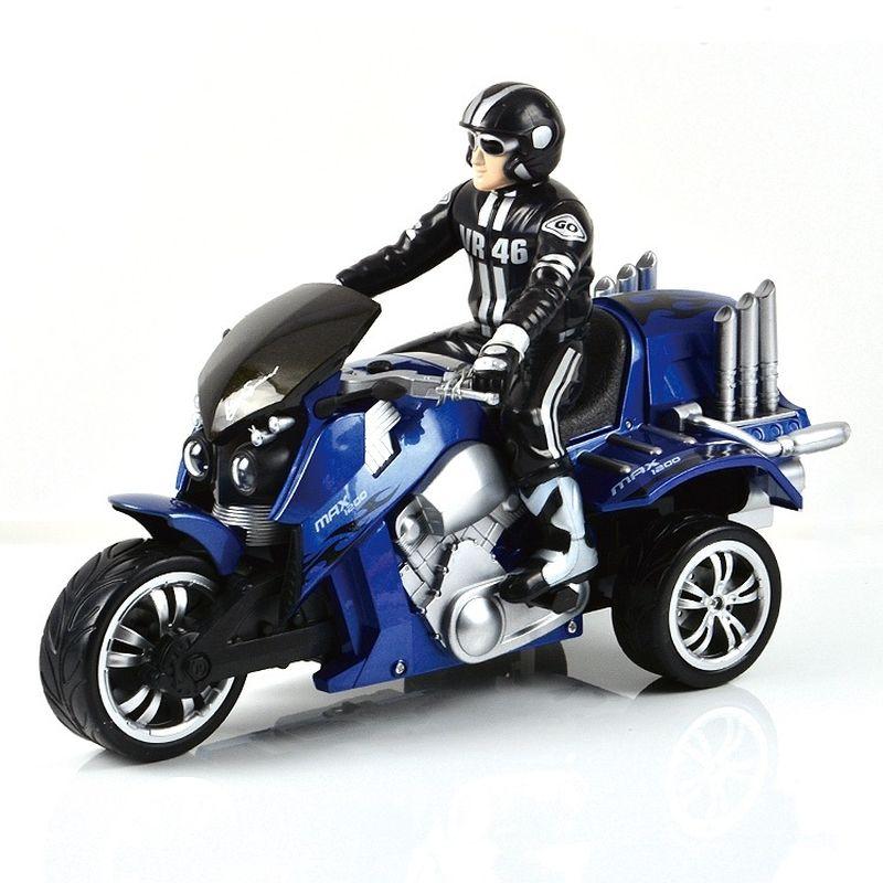 Mioshi Машинка на радиоуправлении Tech Трицикл Экстрим цвет синий квадрокоптер mioshi tech 3d макси дрон 27 mte1209 025