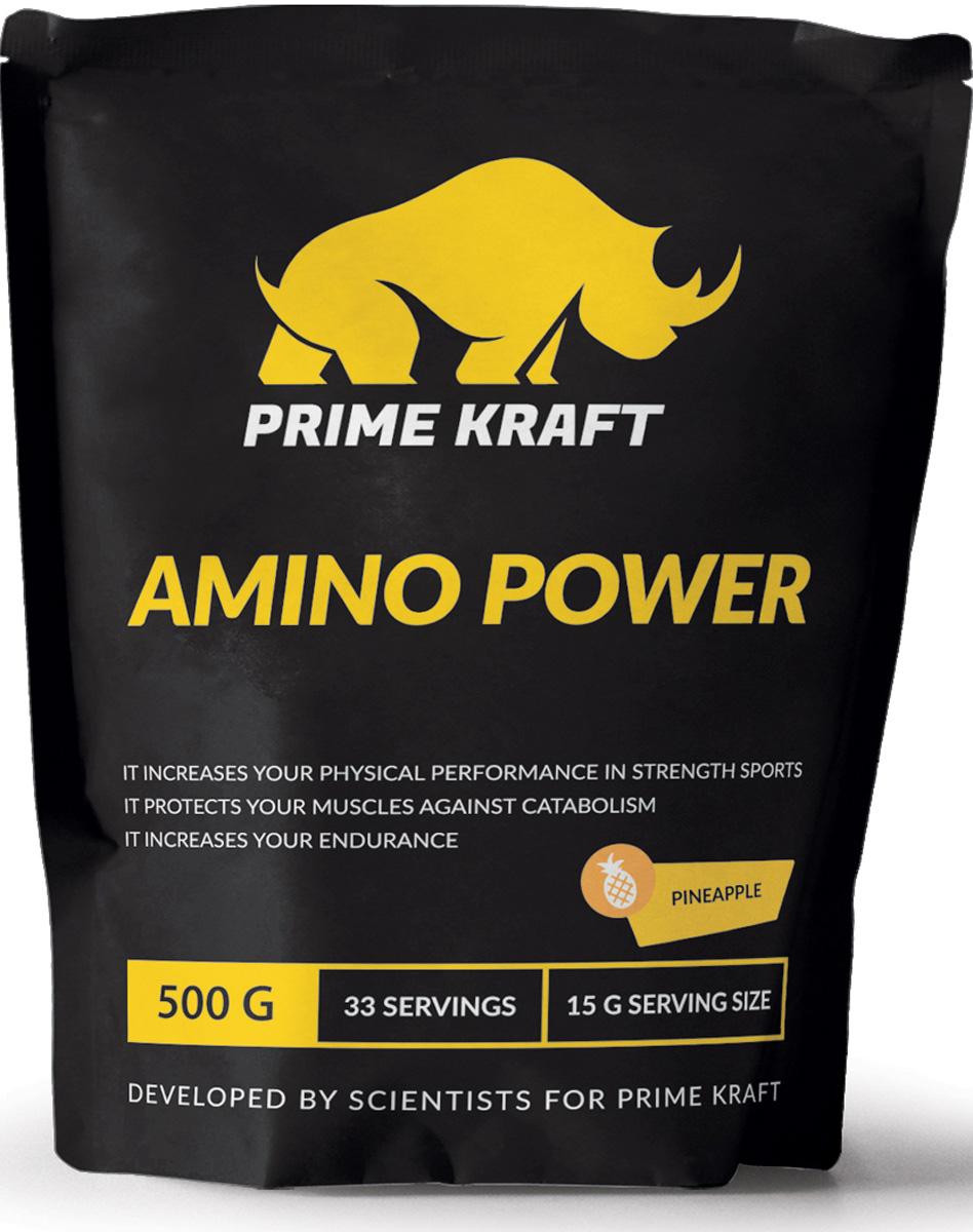 Напиток сухой Prime Kraft  Amino Power , коктейль фруктово-ягодный, ананас, 500 г - Аминокислоты