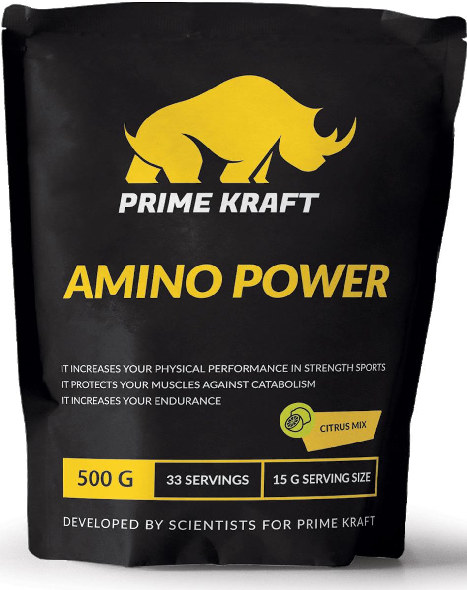 Напиток сухой Prime Kraft  Amino Power , коктейль фруктово-ягодный, цитрусовый микс, 500 г - Аминокислоты