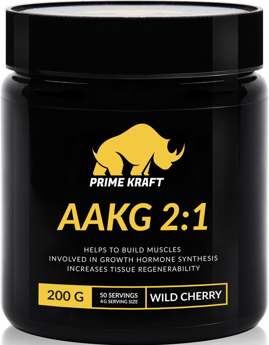 Напиток сухой Prime Kraft  AAKG 2:1 , коктейль фруктово-ягодный, дикая вишня, 200 г - Аминокислоты