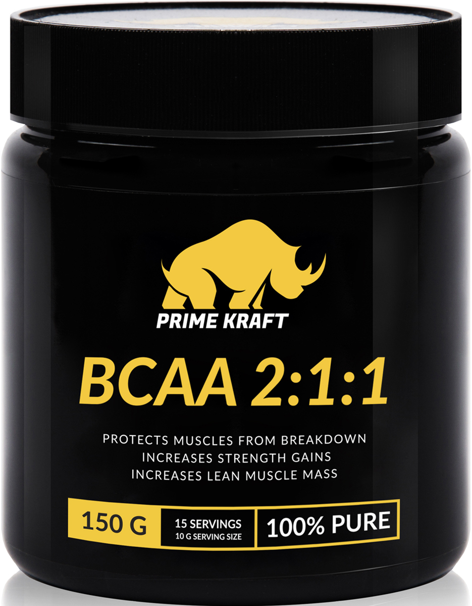 Напиток сухой Prime Kraft BCAA 2:1:1, коктейль фруктово-ягодный, чистый, 150 г bcaa 3300