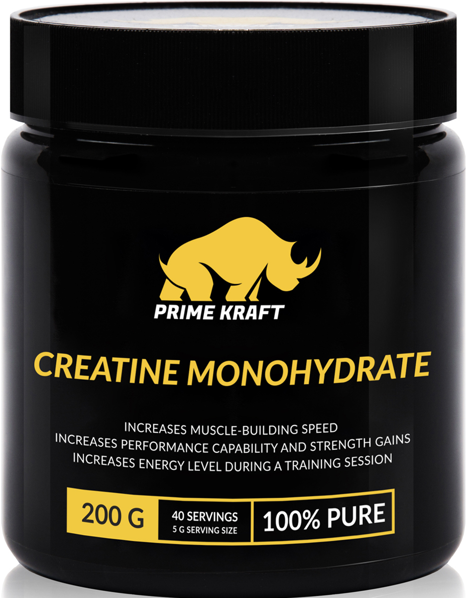 Напиток сухой Prime Kraft Creatine Monohydrate 100%, коктейль фруктово-ягодный, чистый, 200 гЯБ015779Продукт Creatine Monohydrate для спортсменов, реализуемый компанией Prime Kraft, представляет собой абсолютно безопасную смесь, предназначенную для ускоренного роста мышц и набора мышечной массы. Данная спортивная добавка также способствует повышению показателей выносливости, позволяет добиться рельефа мышечной ткани без жировой прослойки, выводит из организма молочную кислоту, защищает мышечную ткань от разрушения, снижает уровень вредного холестерина, оказывает благотворное влияние на суставы и связки при наличии воспалительных процессов, способствует ускоренному восстановлению после тренировок, а также помогает стабилизировать состав крови.