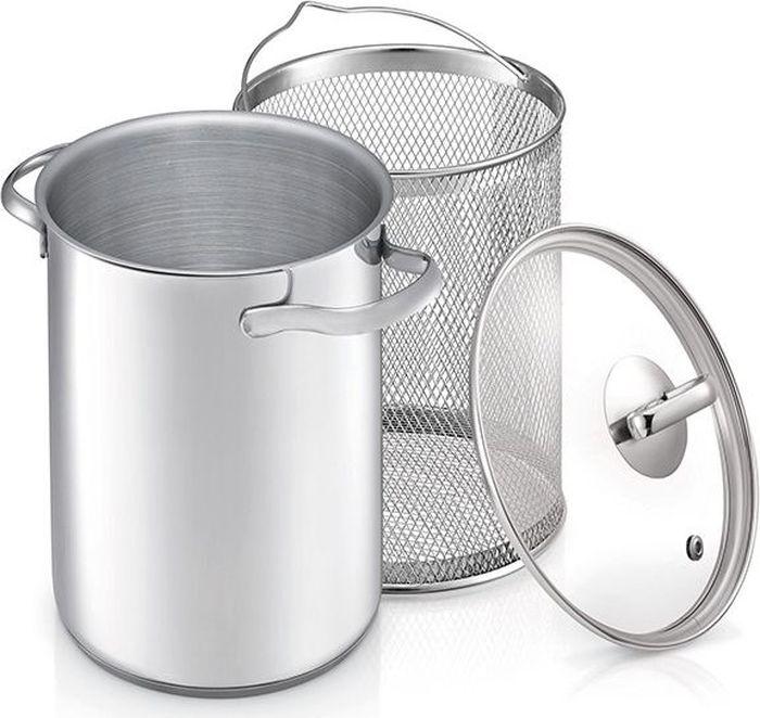Кастрюля для варки овощей Beka со вставкой-пароваркой и крышкой, 4 лBK-3815Кастрюля с удобной ручкой сделана из высококачественной нержавеющей стали, которая не окисляется, не деформируется, ее легко чистить и мыть. Помимо функции обычного приготовления пищи, кастрюля имеет специальную вставку для приготовления овощей. Также удобно варить компоты, легко и быстро вынимая ягоды. Ручка кастрюли не нагреваются за счет оригинального крепления. Капсульное дно обеспечивает быстрый и равномерный нагрев. Прозрачная крышка дает возможность следить за процессом приготовления не поднимая ее, что лучше сохраняет тепло в кастрюли. Можно мыть в посудомоечной машине. Подходит для электрических, керамических, индукционных и газовых плит. Диаметр кастрюли: 6 см. Высота стенок (без учета крышки): 21,5 см. Диаметр вставки-пароварки: 14,5 см.
