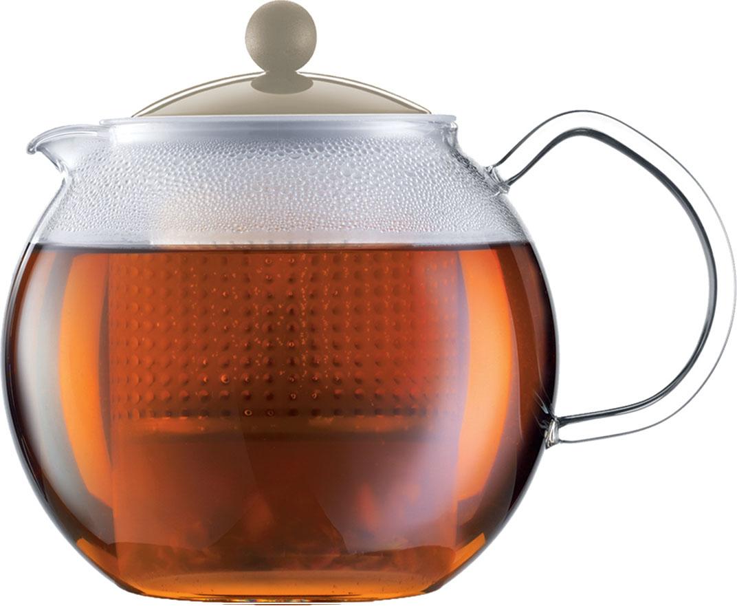Чайник заварочный Bodum Assam, с фильтром, цвет: песочный, 500 млA1823-133-Y16Стильный чайник отлично впишется в ваш интерьер. Он подарит вам и вашим друзьям много чудесных моментов во время чаепитий.