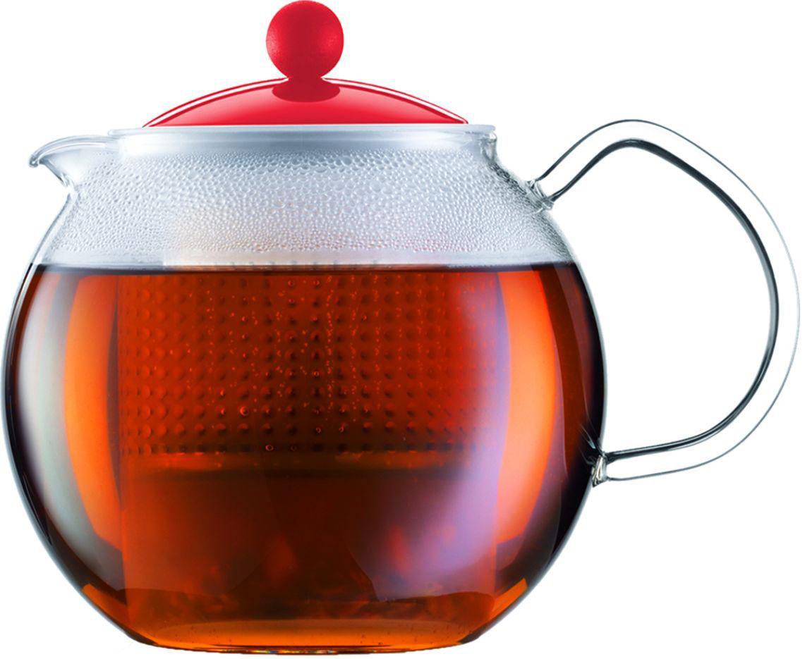 Чайник заварочный Bodum Assam, цвет: красный, 500 млA1823-137-Y16