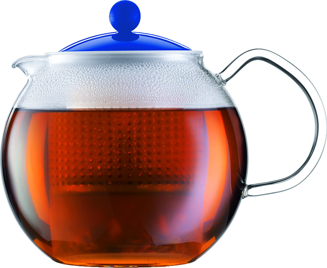 Чайник заварочный Bodum Assam, с фильтром, цвет: синий, 500 мл1625392Стильный чайник отлично впишется в ваш интерьер. Он подарит вам и вашим друзьям много чудесных мгновений во время чаепитий.