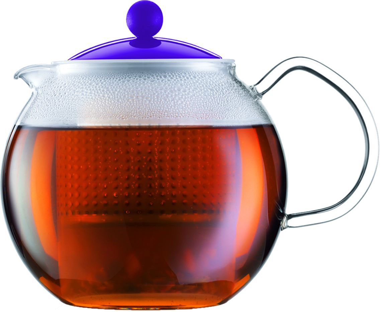 Чайник заварочный Bodum Assam, с фильтром, цвет: фиолетовый, 500 млA1823-150-Y16Стильный чайник отлично впишется в ваш интерьер. Он подарит много чудесных моментов вам и вашим друзьям во время чаепитий.