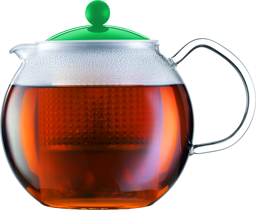 Чайник заварочный Bodum Assam, с фильтром, цвет: бирюзовый, 500 млA1823-159-Y16Стильный чайник отлично впишется в ваш интерьер. Он порадует вас и ваших друзей во время чаепития.