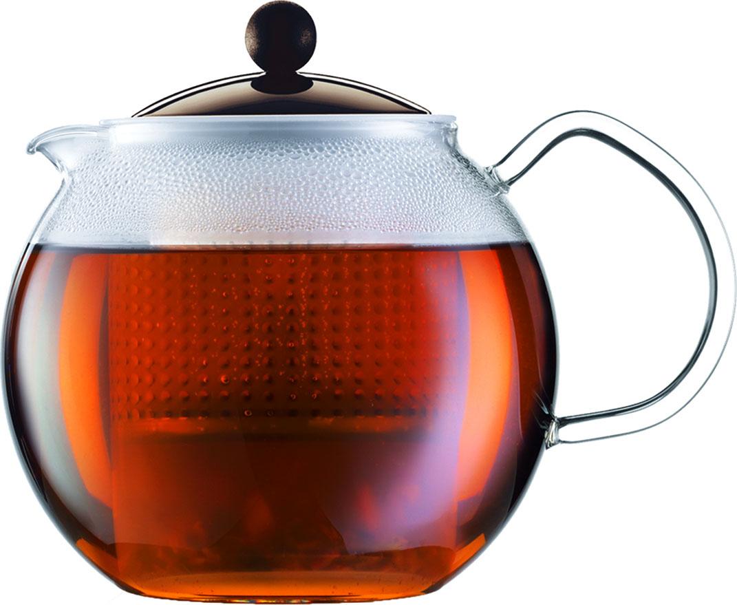 Чайник заварочный Bodum Assam, с фильтром, цвет: коричневый, 500 млA1823-618-Y16Стильный чайник отлично впишется в ваш интерьер. Он подарит вам и вашим друзьям много приятных моментов во время чаепития!