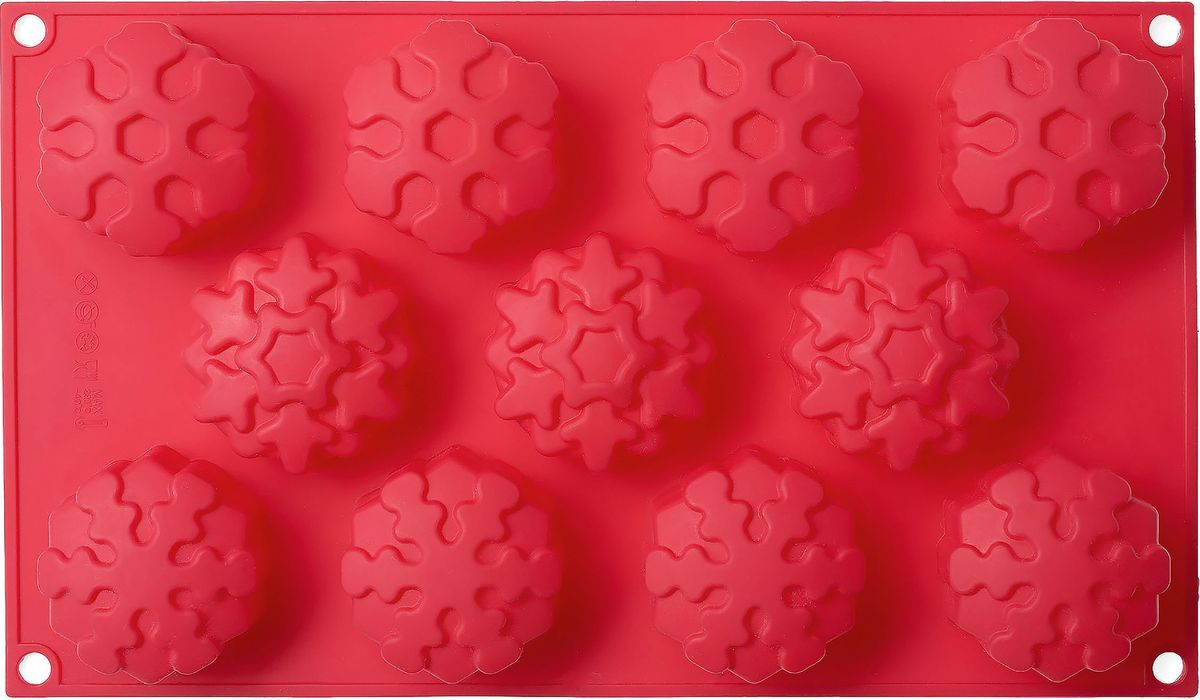 Форма для выпечки Walmer Let It Snow, 11 ячеек, цвет: красныйW27291734