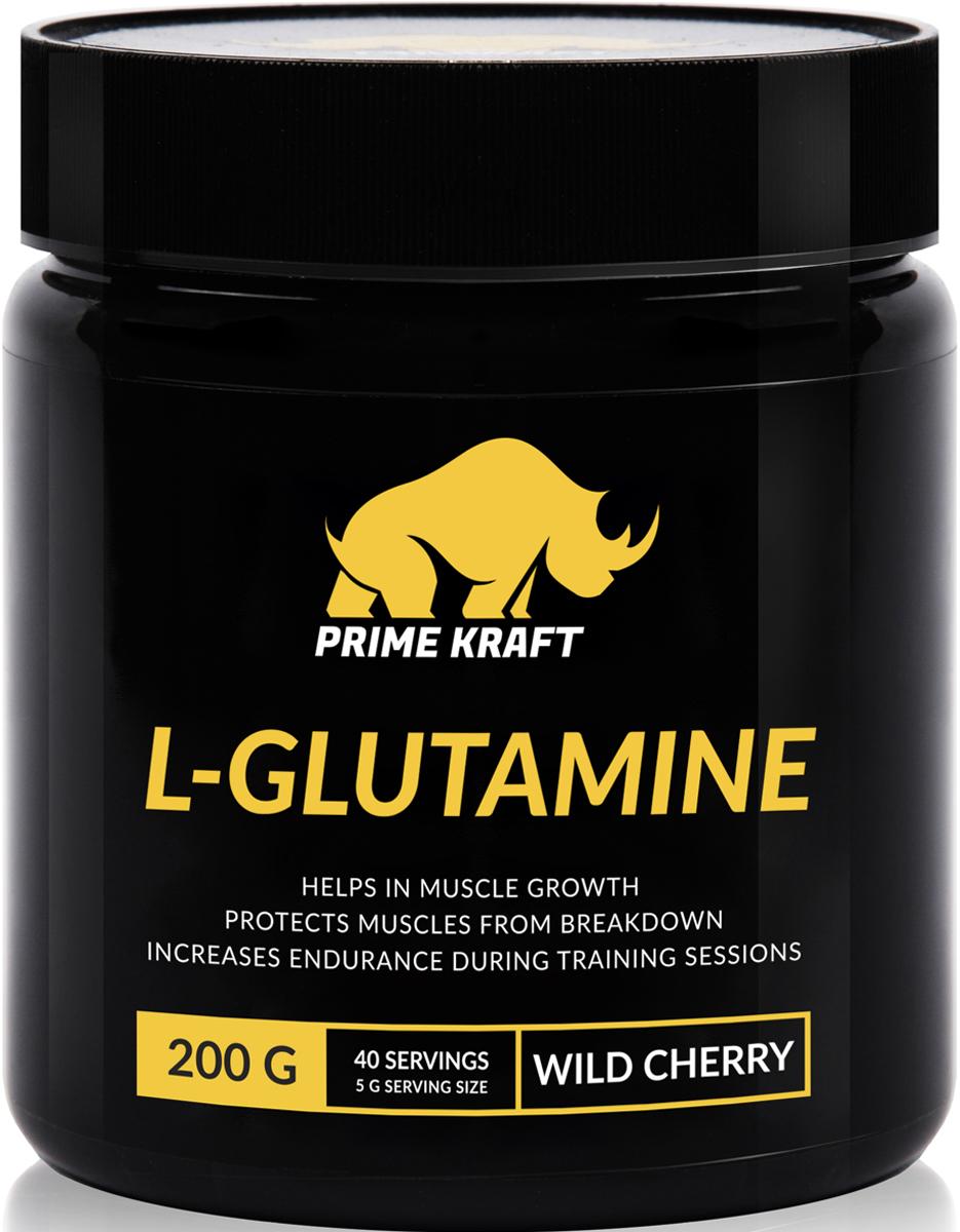 Напиток сухой Prime Kraft L-Glutamine, коктейль фруктово-ягодный, дикая вишня, 200 гЯБ015723Продукт Prime Kraft L-Glutamine относится к типу условно незаменимых аминокислот, то есть не воспроизводится организмом, а попадает с белковой пищей. Глютамин - это важнейший компонент рациона людей, имеющих интенсивные физические нагрузки, благодаря которому происходит насыщение мышечных клеток водой и стимулируется производство гормона роста. Помимо этого, Глютамин препятствует разрушению мышечного белка, способствует эффективному синтезу протеина и задержке азота, восполняет уровень энергии, защищает от токсичного воздействия ткани головного мозга, снижает действие гормонов глюкагона и кортизона, а также улучшает настроение и оказывает благоприятное воздействие на иммунную систему.