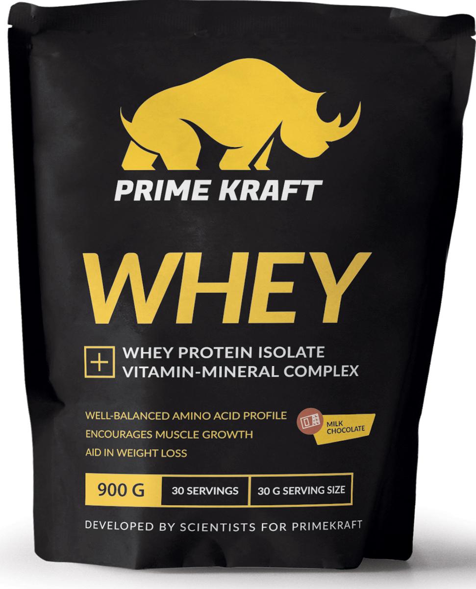 Напиток сухой Prime Kraft Whey, коктейль белково-витаминный, молочный шоколад, 900 г5901947660225Whey от российского производителя Prime Kraft состоит из двух видов сывороточного протеина: концентрата и изолята. Обе формы производятся из молочной сыворотки, образующаяся при изготовлении сыра. А благодаря ультрафильтрационному методу сохраняется природная структура белков. В свою очередь, это позволяет сохранить концентрацию питательных веществ, а ненужные элементы (углеводы и жиры) практически полностью удалить. Данный протеин из сыворотки содержит сбалансированный аминокислотный профиль. Аминокислоты являются основными материалами, обеспечивающими строительство новых мышечных клеток. Prime Kraft Whey - это не просто белковый коктейль, поскольку он улучшен витаминно-минеральным комплексом. Эти ценные вещества обеспечивают наилучшую усвояемость, регулируют функционирование многих жизненно важных процессов и улучшают работоспособность организма в целом.Рекомендации по применению: смешайте 30 г продукта с 200-250 мл воды или обезжиренного молока. В дни отдыха принимайте 2-3 раза в день между приемами пищи, в тренировочные дни утром, а также до и после тренировки.Состав: протеиновая смесь (концентрат сывороточного белка, изолят сывороточного белка), ароматизатор, молочная кислота, натуральный краситель, ксантановая камедь, гуаровая камедь, лимонная кислота, минеральная смесь (карбонат кальция, хлорид калия, оксид магния, сульфат железа, оксид цинка, сульфат меди, сульфат марганца, йодат калия, селенит натрия), витаминная смесь (аскорбиновая кислота, ацетат токоферола, никотинамид, ацетат ретинола, пантотенат кальция, гидрохлорид пиридоксина, рибофлавин, холекальциферол, мононитрат тиамина, фолиевая кислота, биотин, цианокобаламин), хлорид натрия, ацесульфам К, сукралоза.Данный продукт содержит молочные ингредиенты и соевый лецитин (эмульгатор).Товар сертифицирован.Как повысить эффективность тренировок с помощью спортивного питания? Статья OZON Гид