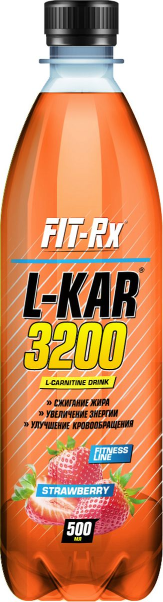 """Карнитин FIT-RX """"L-Kar 3200"""", клубника, 500 мл"""