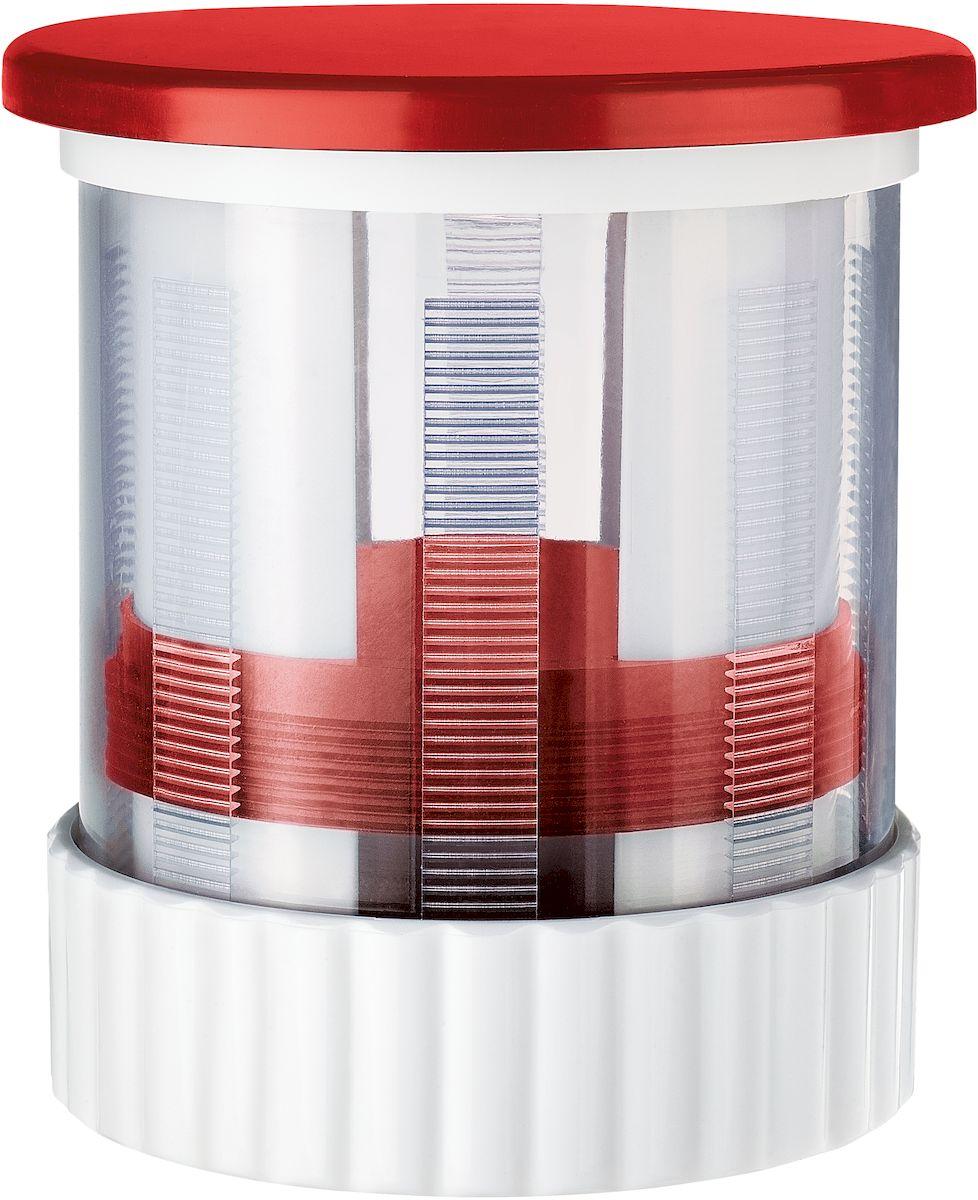 Мельница для масла Moha Presto, механическая, цвет: красный20016Мельница для масла Moha Presto понравится любой хозяйке. Инновационная идея -мельница для сливочного масла. Отличное решение для тех, кто каждое утро завтракаетбутербродами со сливочным маслом.Запатентованная мельница легко превратит даже сильно охлажденное сливочное масло втонкие стружки. Дальше масло уже легко намазать на хлеб.Мельница одновременно служит как масленка для хранения масла в холодильнике, помогаясохранить естественный вкус и аромат сливочного масла, защищая от бактерий ипосторонних запахов. Использовать мельницу очень просто - в контейнер помещается до 100 г сливочного маслаи закрывается крышка терки. Для получения тонкой стружки необходимо просто вращатьверхнюю часть терки и масло перемалывается через сетчатую терку, образуя узкие стружки. Для хранения достаточно закрыть крышку и поставить в холодильник. Можно мыть в посудомоечной машине.