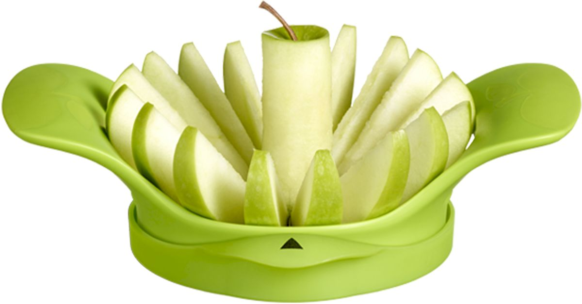 Нож для яблок Moha Apple 16, цвет: зеленый, 16 долек25214При помощи ножа Moha Apple 16 вы без труда разделите яблоко на 16 ровных кусочков. Нож выполнен из стали. Рекомендуется мыть вручную.