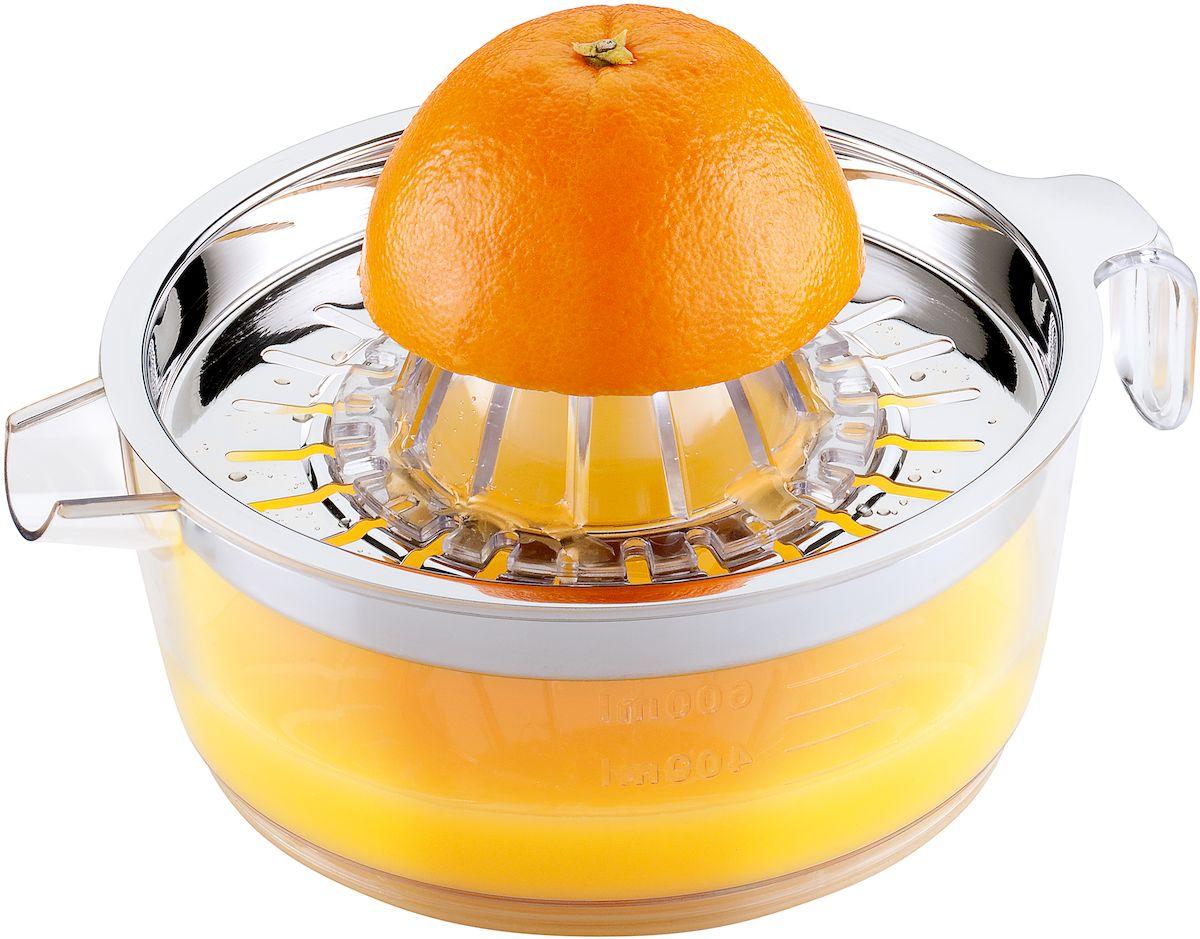 Соковыжималка для цитрусовых Moha Citrus, цвет: серый металлик30001Соковыжималка с чашей и 2-мя видами насадок выполнена из прочного пластика. Особенность ее состоит в том, что она занимает мало места и при этом очень эффективна. Необходимо разрезать плод на две части и посредством насаживания фрукта стороной среза на острие насадки можно получить сок. Можно мыть в посудомоечной машине.