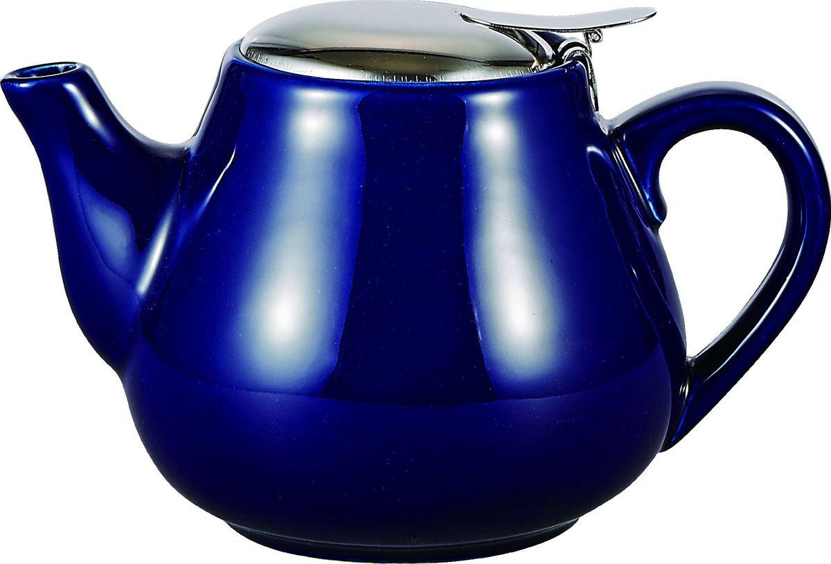 Чайник заварочный Elrington Глазурь, с фильтром, цвет: синий, 600 мл. FJH-10008-A18FJH-10008-A18Заварочный чайник Elrington Глазурь изготовлен из высококачественной керамики, покрытой эмалью в несколько слоев. Такой чайник гигиеничен и устойчив к износу при длительном использовании.Чайник оснащен ситечком из нержавеющей стали с крышкой, которое не позволит чаинкам попасть в чашку, при этом сохранит букет и насыщенность чая.