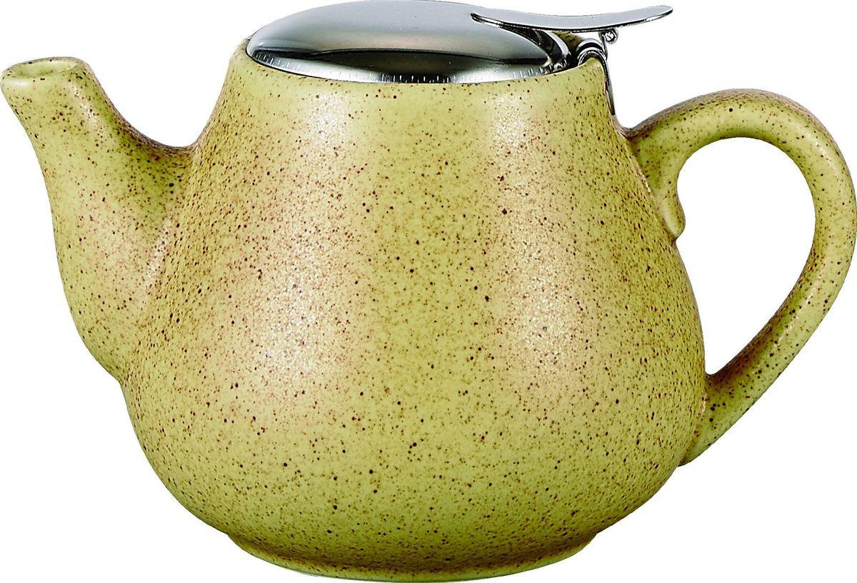 Чайник заварочный Elrington Крошка, с фильтром, цвет: желтый, 600 мл. FJH-10008-A201FJH-10008-A201