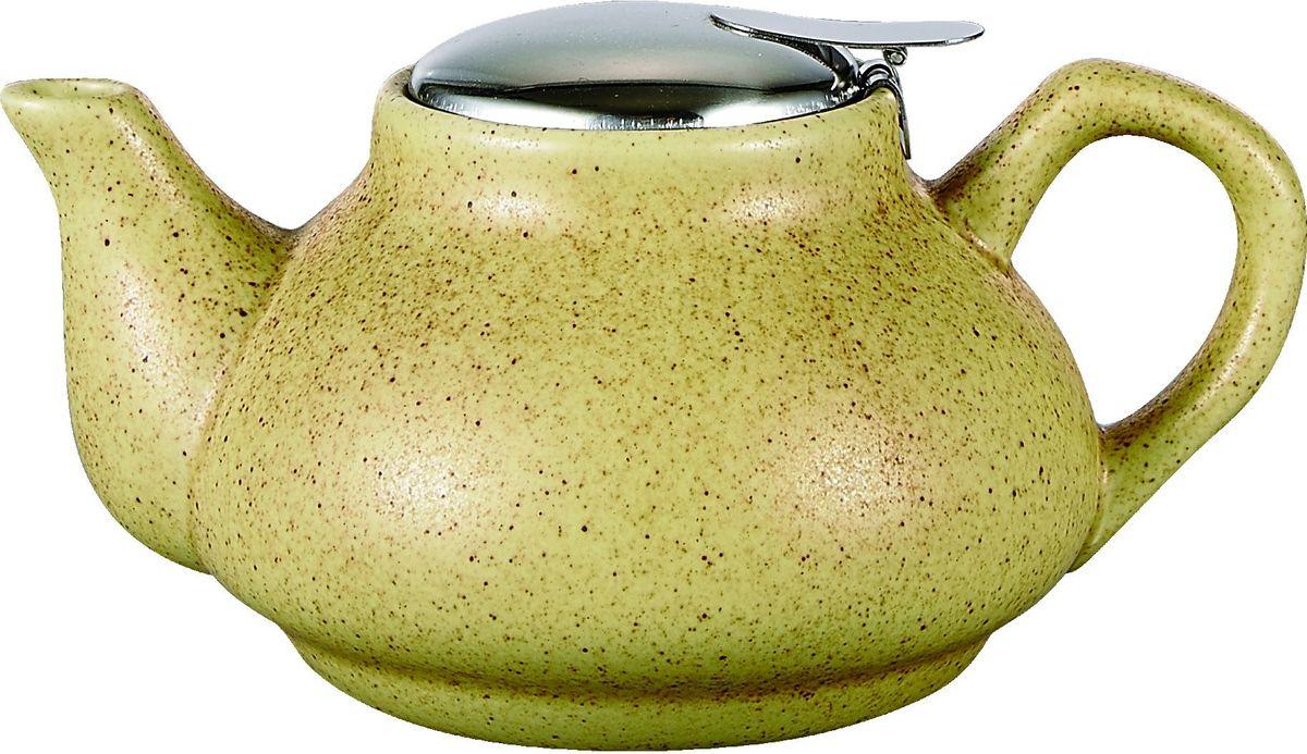 Чайник заварочный Elrington Крошка, с фильтром, цвет: желтый, 750 млFJH-10021-A201Стильный чайник отлично впишется в ваш интерьер. Благодаря фильтру, заваривать в нем чай будет очень удобно.