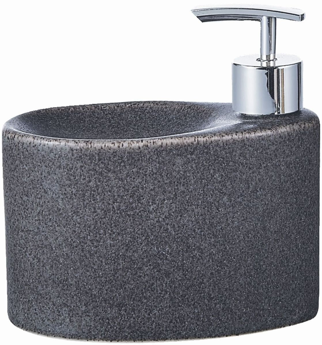 """Дозатор для жидкого мыла """"Elrington"""", изготовленный из керамики и металла, отлично подойдет для вашей ванной комнаты. Такой аксессуар очень удобен в использовании, достаточно лишь перелить жидкое мыло в дозатор, а когда необходимо использование мыла, легким нажатием выдавить нужное количество. Также изделие оснащено подставкой под губку.Дозатор для жидкого мыла """"Elrington"""" создаст особую атмосферу уюта и максимального комфорта в ванной."""