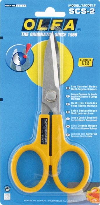 Ножницы многофункциональные  Olfa , с микрозубьями, длина лезвия 5,5 см -  Канцелярские ножи и ножницы