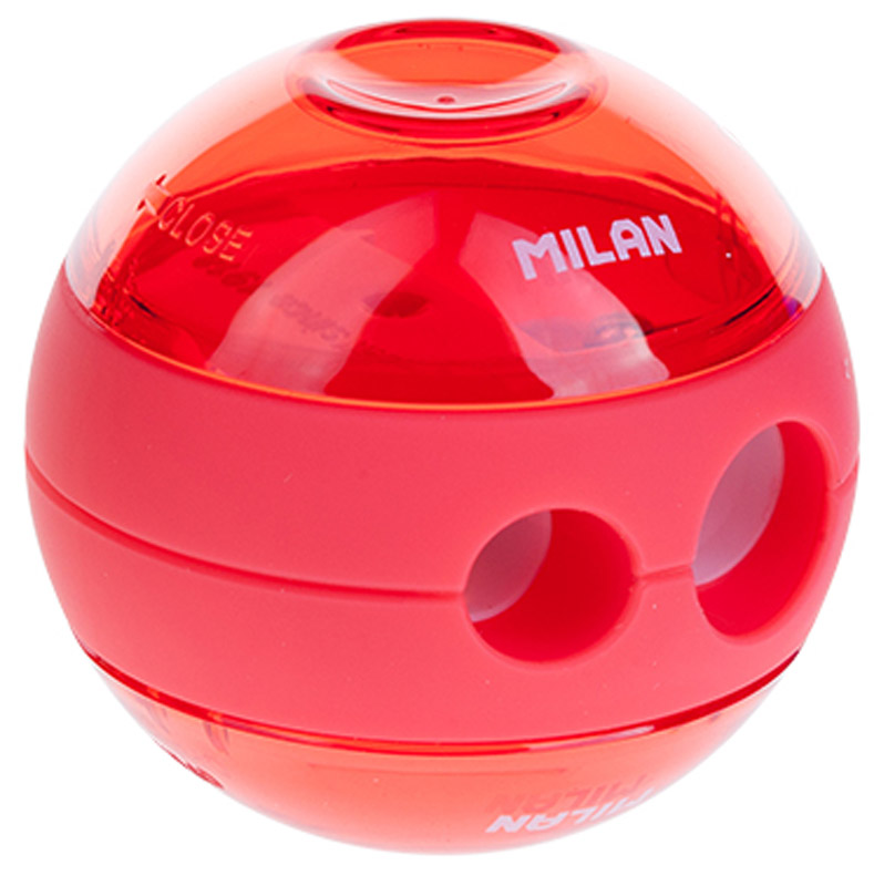 Milan Точилка Sphere с контейнером цвет коралловый -  Чертежные принадлежности