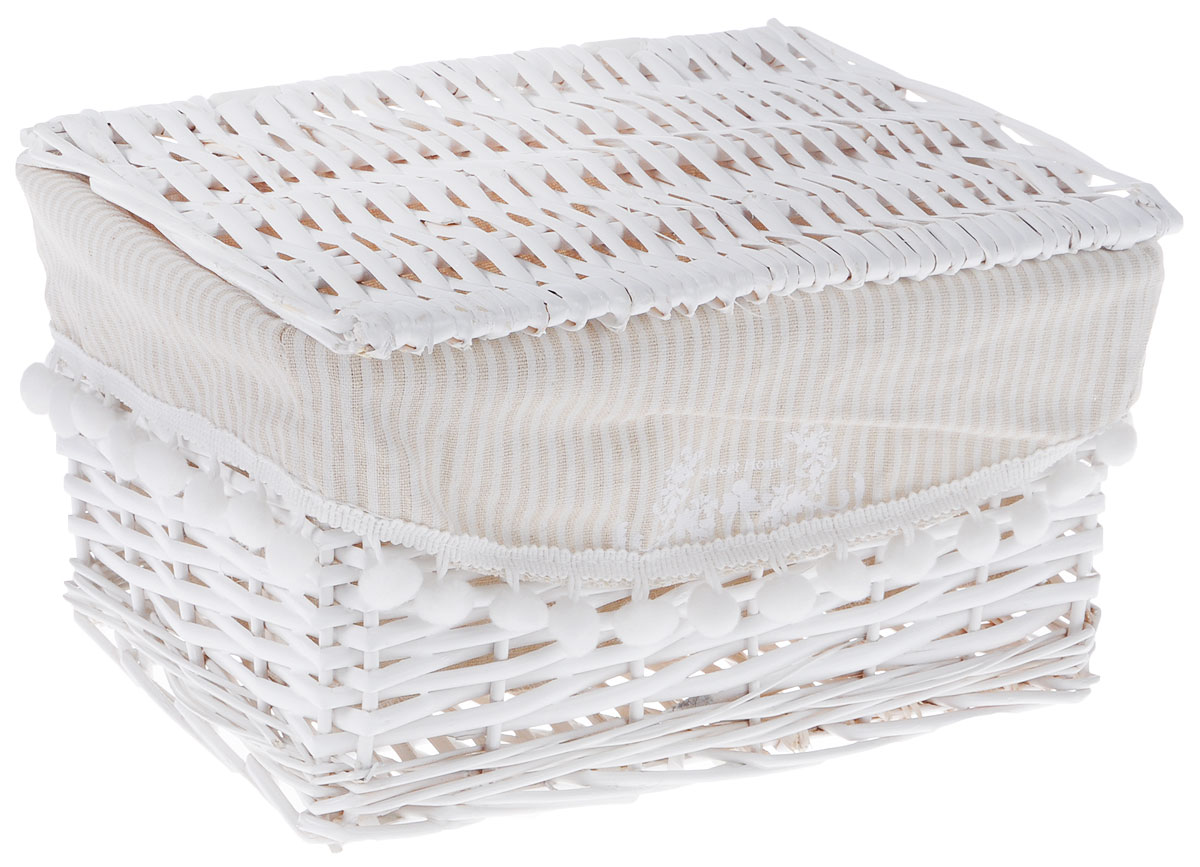 Корзина для белья Natural House Колокольчик, прямоугольная, цвет: белый, 30 х 20 х 18 смEW-30 SБельевая корзина Natural House Колокольчик, выполненная из лозы ивы, не только удобна и практична, но и прекрасно выглядит. Высокое качество и натуральные материалы гармонично сочетаются и создают в доме уют и теплое настроение.В комплект с входит чехол, который легко снимается и стирается.