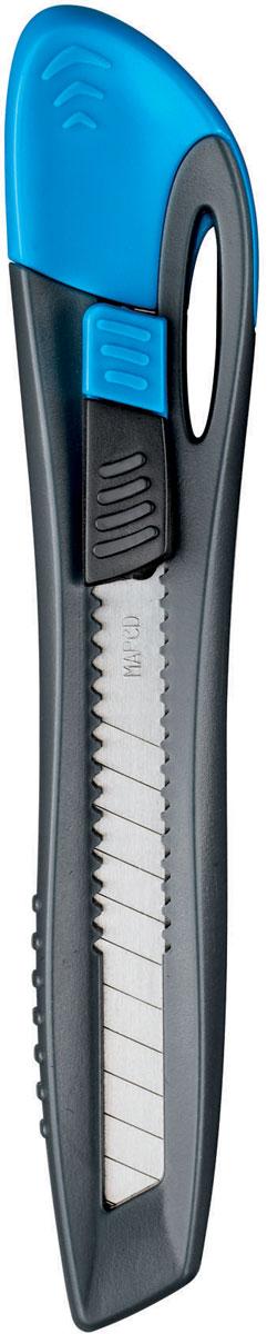 Maped Нож канцелярский цвет голубой 9 мм092310Эргономичный канцелярский нож Maped имеет встроенную систему лезвий с отламывающимися сегментами.