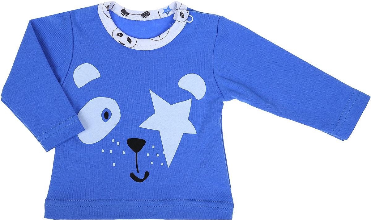 Джемпер детский КотМарКот Панда Rock, цвет: светло-бежевый, синий. 7924. Размер 627924Детский джемпер КотМарКот Панда Rock изготовлен из интерлока и оформлен ярким принтом с изображением панды. Материал изделия мягкий и тактильно приятный, не раздражает нежную кожу ребенка и хорошо пропускает воздух. Модель прямого кроя с длинными рукавами имеет удобные застежки-кнопки на плече, что позволит легко переодеть ребенка. Круглый вырез горловины дополнен мягкой эластичной бейкой контрастного цвета. Изделие полностью соответствует особенностям жизни ребенка в ранний период, не стесняя и не ограничивая его в движениях.