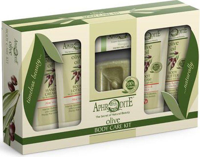 Aphrodite Подарочный набор для ухода за телом, с алоэ вера, 150 г подарочный набор по уходу за телом с ромашкой aphrodite