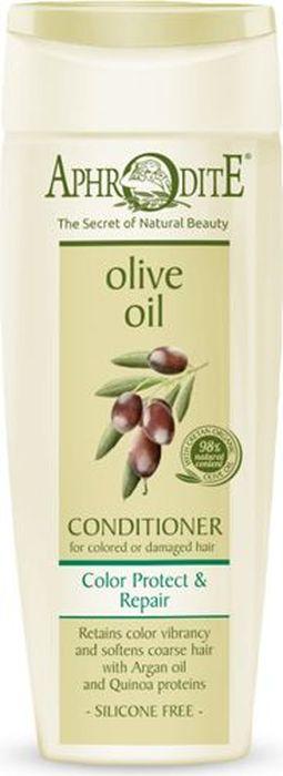 Aphrodite Кондиционер для волос Защита цвета и восстановление, 200 млZ-14PКондиционер Защита цвета и Восстановление разработан для решения проблем по уходу за окрашенными и поврежденными волосами.Средство обогащено оливковым и аргановым маслом, которые обладают великолепными увлажняющими и восстанавливающими свойствами. Сбалансированное сочетание таких натуральных компонентов, как абиссинское масло, масло камелии, растительный кератин, протеины квиноа и баобаба, инулин, гуаровая смола и витамин E восстанавливает структуру поврежденных волос, возвращает жизненную силу и сохраняет яркость цвета. Кондиционер Защита цвета и восстановление обеспечивает интенсивное питание и активную защиту окрашенным и поврежденным волосам от неблагоприятных факторов окружающей среды.Средства Aphrodite для защиты и восстановления волос производятся из натуральных компонентов без сульфатов и парабенов.