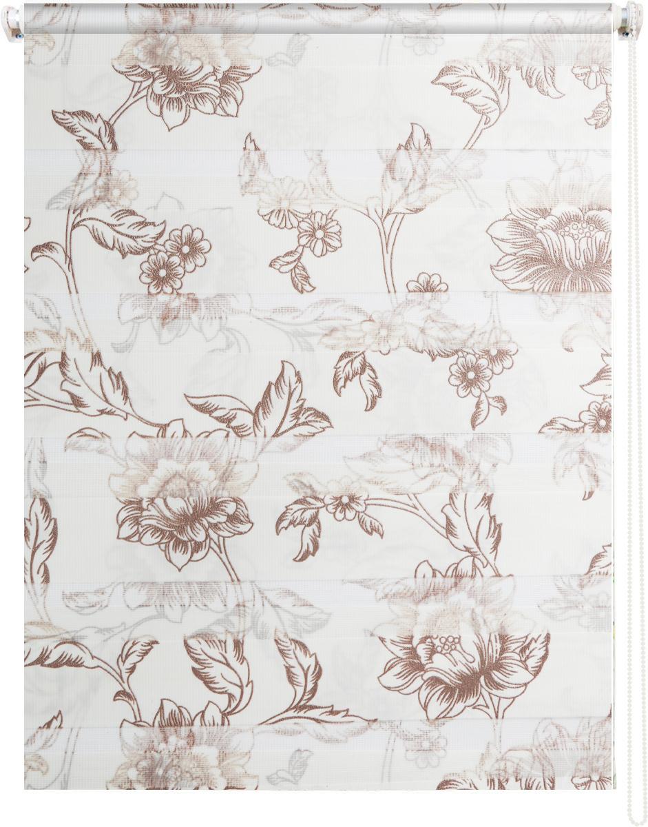 Штора рулонная Dr. Deco Полосы, день-ночь, с креплением на раму, цвет: белый, коричневый, 57 х 160 см1219057/2 W2040_цветы,коричневыйШтора рулонная Dr. Deco Полосы изготовлена из высокопрочной плотной ткани с прозрачными полосками. Ткань не выцветает, обладает отличной цветоустойчивостью и сохраняет свой размер даже при намокании. Штора рулонная Dr. Deco Полосы закрывает не весь оконный проем, а непосредственно само стекло. Крепление универсальное, штора крепится либо скобами на раму, либо на крепление с двусторонним скотчем. Штора рулонная Dr. Deco Полосы - это отличное решение для тех, кто не хочет утяжелять помещение тканевыми шторами. Она не только открывает пространство, но и легко регулирует подачу света в помещении, сдвигая полоски относительно друг друга. Происходит это с помощью шнура-цепочки. В комплект входит: - 2 крепления,- 2 самореза,- 2 дюбеля,- шнур-цепочка,- штора.