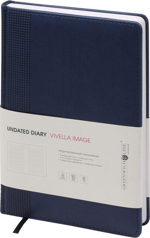 Greenwich Line Ежедневник Vivella Image недатированный 160 листов цвет синий формат A6