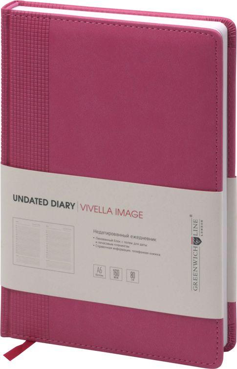 Greenwich Line Ежедневник Vivella Image недатированный 160 листов цвет светло-розовый формат A6 beauty image баночка с воском с маслом оливы 800гр