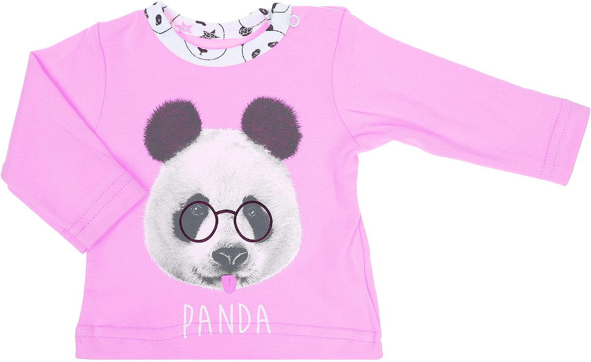 Лонгслив для девочки КотМарКот Панда Rock, цвет: светло-бежевый, розовый. 7925. Размер 627925Удобный лонгслив для девочки КотМарКот Панда Rock изготовлен из интерлока и оформлен принтом с изображением головы панды. Модель с длинными рукавами застегивается на кнопки на плече. Круглый вырез горловины дополнен мягкой эластичной бейкой контрастного цвета.Материал лонгслива мягкий и тактильно приятный, не раздражает нежную кожу ребенка и хорошо пропускает воздух. Изделие полностью соответствует особенностям жизни ребенка в ранний период, не стесняя и не ограничивая его в движениях.