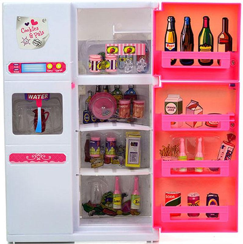 DollyToy Мебель для кукол Холодильник холодильник с продуктами новый