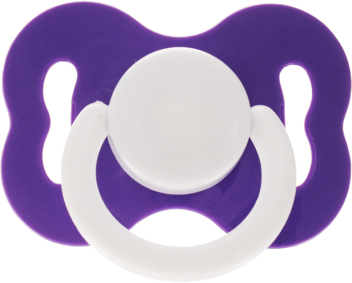 Lubby Соска-пустышка латексная Ретро от 0 месяцев цвет фиолетовый