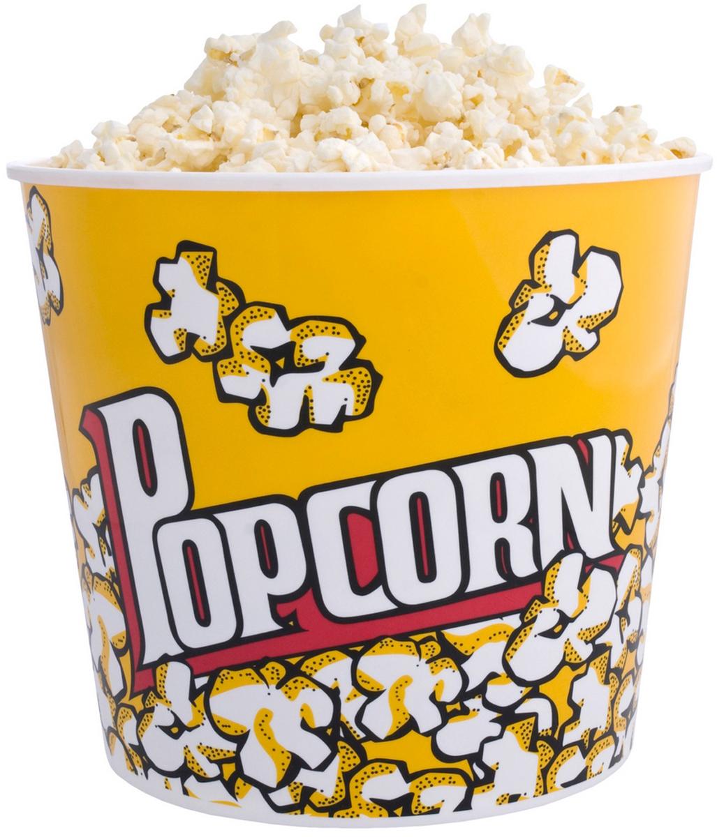 """Специальный стакан для попкорна """"Pop Corn"""" очень вместителен, благодаря чему вам больше не придется возиться с неудобной и громоздкой посудой во время просмотра кино. Емкость для попкорна состоит из качественного пищевого пластика и украшена стильной надписью. Стакан очень легкий и подойдет для большой семьи или веселой компании друзей, любящих по вечерам собираться вместе, чтобы насладиться любимым фильмом. - Емкость стакана 2,8 л. - Стакан для попкорна подойдет для большой компании. - Стакан изготовлен из качественного и безвредного пищевого пластика."""