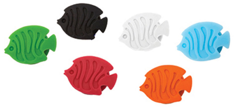 """С помощью силиконовых маркеров для бокалов """"Balvi"""" в форме аквариумных рыбок, вы всегда будете знать в каком бокале находится ваш  коктейль или напиток. В комплекте 6 маркеров разного цвета.  Сделайте вашу вечеринку ярче и беззаботнее с маркерами Aquarium. - Стильные маркеры в виде аквариумных рыбок. - Изготовлены из прочного силикона. - Можно использовать многократно."""