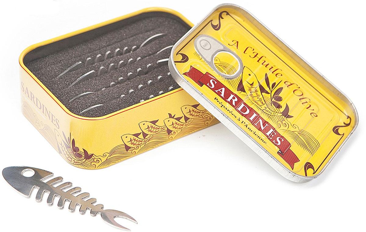 Шпажки для закусок Balvi Sardines, цвет: серый металлик, 6 шт дозатор напитков balvi liquor l hedoniste цвет серый металлик