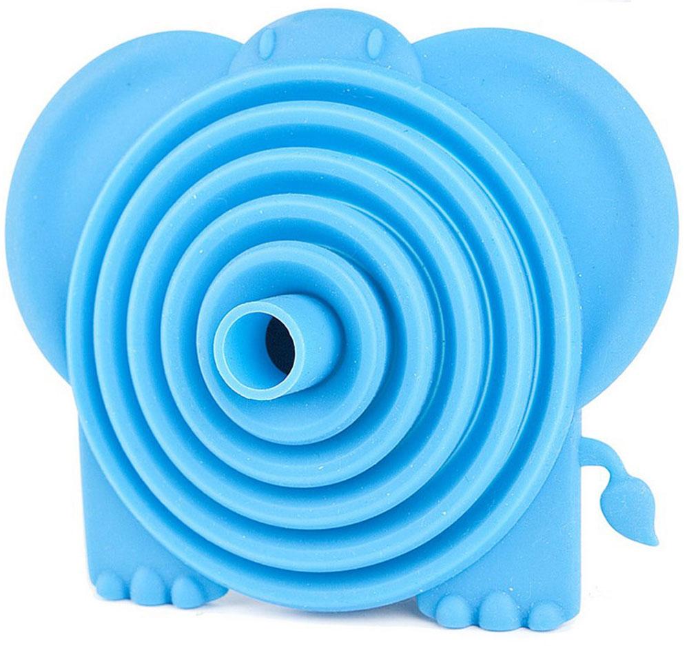 Воронка для пищевых продуктов Balvi Tembo, цвет: голубой25359Яркий и незаменимый аксессуар для вашей кухни - силиконовая воронка для бутылки Tembo. С помощью этой складной и компактной воронки в форме милого слоника вы забудете о том, что такое пролитая на пол жидкость и изнурительная уборка. Воронка очень компактная и не займет много места при хранении. Просто сложите ее после использования и храните с другими полезными кухонными приборами. Благодаря яркому и позитивному дизайну воронки заниматься кухонными хлопотами будет в разы веселее. - Привлекательный и яркий дизайн воронки в форме слоника.- Изготовлена из пищевого силикона.- Компактность и практичность.