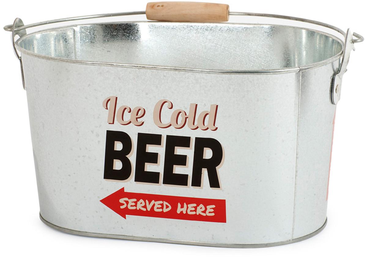 Емкость для охлаждения пива Balvi Party Time, цвет: серый металлик25582Емкость Party Time мгновенно охладит бутылочки с пивом и не даст льду быстро растаять. Емкость для охлаждения выполнена из прочногометалла в форме овального ведерка с ручками. На боковой поверхности емкости предусмотрена открывалка для пива. С помощью емкости дляохлаждения Party Time вы забудете о мелких заботах и замечательно проведете время за приятной беседой с друзьями, попивая охлажденноепиво. - Емкость изготовлена из прочного металла. - На боковой поверхности есть открывалка для пивных бутылок. - Емкость подойдет для отдыха на природе большой компанией.